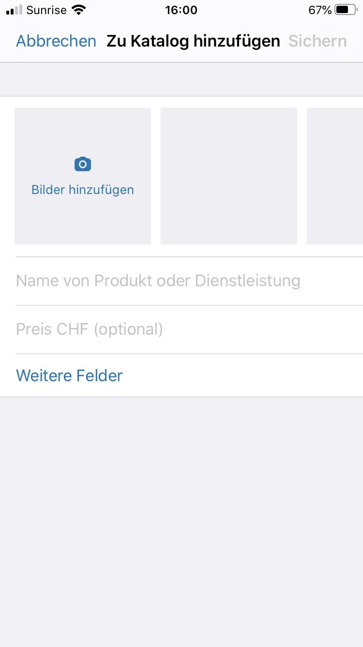 WhatsApp Business Katalog Produkt hinzufügen