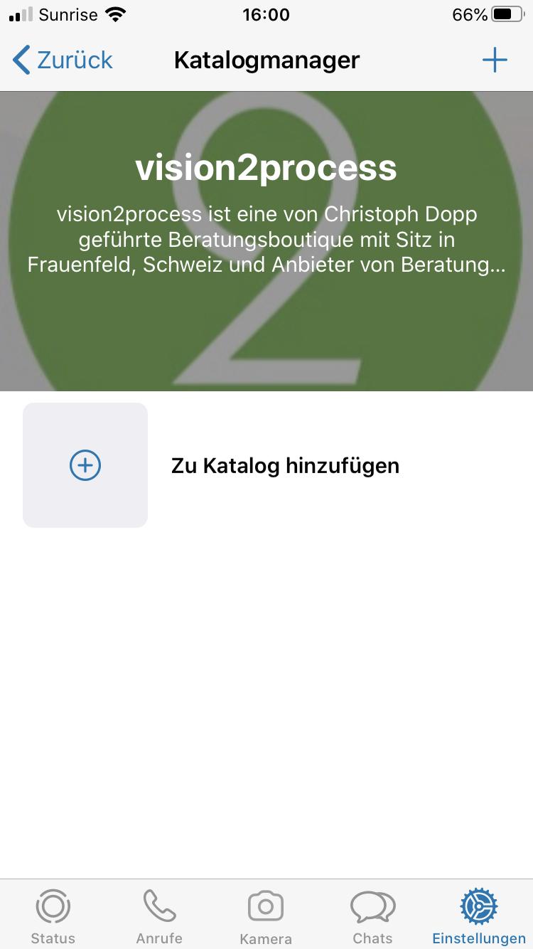 WhatsApp Business Katalog