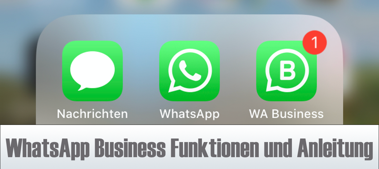WhatsApp Business Funktionen Anleitung