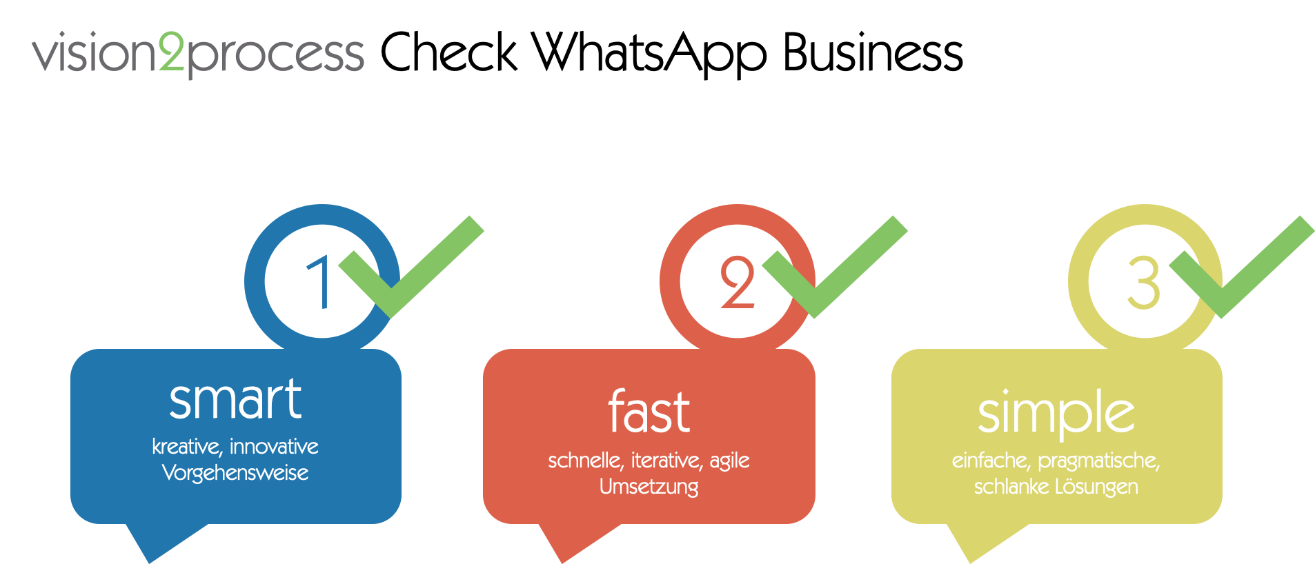 WhatsApp Business vision2process Check